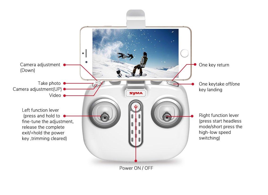 syma x8pro remote control