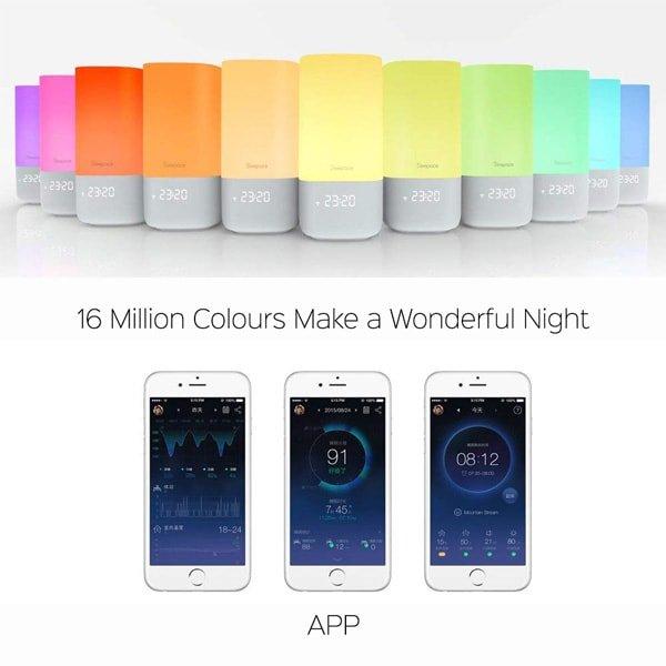sleepace nox smart sleep light many colors