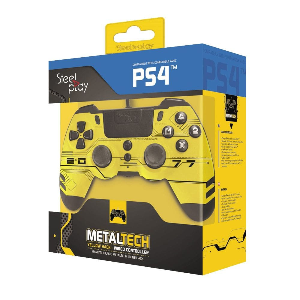 jvaps400188-steelplay-metaltech-wired-controller-for--playstation-4-yellow-hack-box